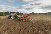11-10-2021 Drilling Winter wheat in Lincolnshire <br /> ©Tim Scrivener Photographer 07850 303986<br />      ....Covering Agriculture In The UK....