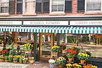 Fall flowers color historic Beacon Hill, Boston, MA