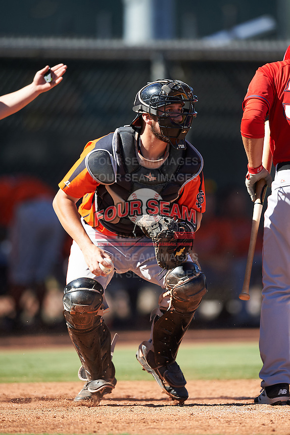 San Francisco Giants Cody Brickhouse (5) during an Instructional League game against the Los Angeles Angels of Anaheim on October 13, 2016 at the Tempe Diablo Stadium Complex in Tempe, Arizona.  (Mike Janes/Four Seam Images)