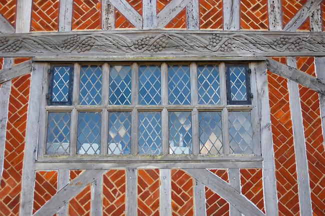 Tudor Window on Old Town Hall Aldeurgh, Suffolk, UK