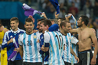 São Paulo, Brazil - July 9, 2014: Argentina defeated Netherlands 4-2 in a penalty shootout to reach the World Cup final at Stadium Arena Corinthians.