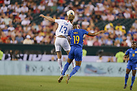PHILADELPHIA, PENNSYLVANIA - JUNE 30: Tim Ream #13, Jafar Arias #19 during the 2019 CONCACAF Gold Cup quarterfinal match between the United States and Curacao at Lincoln Financial Field on June 30, 2019 in Philadelphia, Pennsylvania.