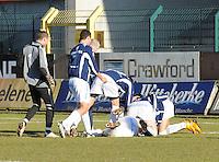 SWI Harelbeke - BS Poperinge ..vreugde na de 0-2 voor Poperinge..foto VDB / BART VANDENBROUCKE