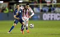 Cary, N.C. - Tuesday March 27, 2018: Miguel Almirón during an International friendly game between the men's national teams of the United States (USA) and Paraguay (PAR) at Sahlen's Stadium at WakeMed Soccer Park.