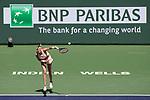 March 09, 2018: Petra Kvitova (CZE) defeated Yulia Putintseva (KAZ) 6-7 (4), 7-6 (3), 6-4 at the BNP Paribas Open played at the Indian Wells Tennis Garden in Indian Wells, California. ©Mal Taam/TennisClix/CSM