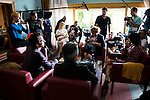 """Adrian Lastra, Paco Leon, Alexandra Jimenez and Rossy de Palma during the shooting set of the spanish film """"Toc Toc"""" in Madrid. October 03, Spain. 2016. (ALTERPHOTOS/BorjaB.Hojas)"""