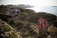 alternative point of view during the traditional team photo shoot<br /> <br /> Team Lotto Soudal 2016 pre-season training camp<br /> <br /> Mallorca, december 2015
