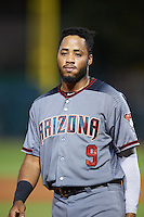 Salt River Rafters Dawel Lugo (9), of the Arizona Diamondbacks organization, during a game against the Glendale Desert Dogs on October 19, 2016 at Camelback Ranch in Glendale, Arizona.  Salt River defeated Glendale 4-2.  (Mike Janes/Four Seam Images)