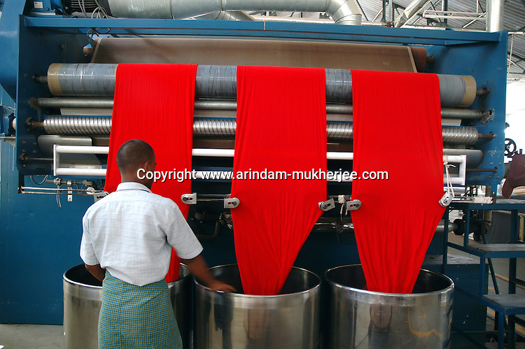 Expensive and advanced compacting machines are used to stabilise the garment colour. Prem Industry's Printing unit Tirupur, Tamilnadu. After lifting of quota system in textile export on 1st january 2005. Tirupur has become the biggest foreign currency earning town of India.