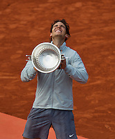 France, Paris, 08.06.2014. Tennis, French Open, Roland Garros, Final men: Rafael Nadal (ESP) with the trophy  <br /> Photo:Tennisimages/Henk Koster