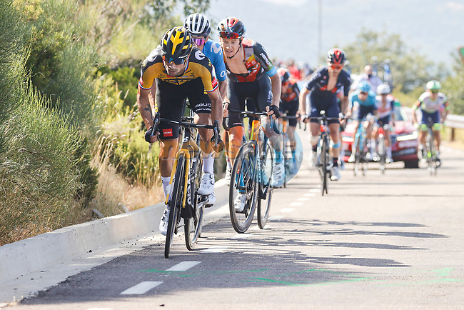 Primoz Roglic (SLO) Jumbo-Visma near the finish of Stage 14 of La Vuelta d'Espana 2021, running 165.7km from Don Benito to Pico Villuercas, Spain. 28th August 2021.     <br /> Picture: Luis Angel Gomez/Photogomezsport | Cyclefile<br /> <br /> All photos usage must carry mandatory copyright credit (© Cyclefile | Luis Angel Gomez/Photogomezsport)