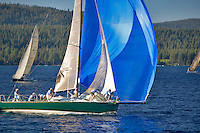 Sailboats in race. Lake Tahoe. California