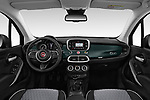 Stock photo of straight dashboard view of 2019 Fiat 500-X Cross 5 Door SUV Dashboard