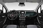 Stock photo of straight dashboard view of 2019 Fiat 500-X Cross 5 Door SUV Dashboard