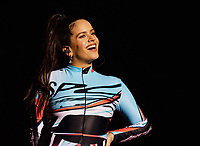 HOUSTON, TEXAS - NOVEMBER 09: Rosalía performs during the second annual Astroworld Festival at NRG Park on November 9, 2019 in Houston, Texas. Photo: Trish Badger/imageSPACE/MediaPunch