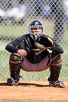 March 19, 2010:  Catcher Jose Ceballos of the Florida Marlins organization during Spring Training at the Roger Dean Stadium Complex in Jupiter, FL.  Photo By Mike Janes/Four Seam Images