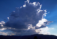 Thunderhead storm clouds over mountains, Northern California