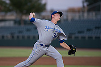 AZL Royals starting pitcher Zach Haake (38) delivers a pitch during an Arizona League game against the AZL Giants Black at Scottsdale Stadium on August 7, 2018 in Scottsdale, Arizona. The AZL Giants Black defeated the AZL Royals by a score of 2-1. (Zachary Lucy/Four Seam Images)