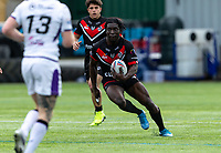 Gideon Boafo of London Broncos during the Betfred Championship match between London Broncos and Newcastle Thunder at The Rock, Rosslyn Park, London, England on 9 May 2021. Photo by Liam McAvoy.