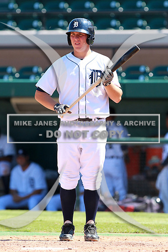 Detroit Tigers first baseman James Robbins (84) during a game vs. the Washington Nationals in an Instructional League game at Joker Marchant Stadium in Lakeland, Florida;  October 1, 2010.   Photo By Mike Janes/Four Seam Images