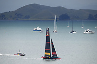 16th March 2021; Waitemata Harbour, Auckland, New Zealand;  Luna Rossa Prada Pirelli ahead of racing on Day 6 of the America's Cup presented by Prada. Auckland, New Zealand, Tuesday the 16th of March 2021.