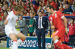 Euro 2012 Qualifying match - Wales v Montenegro at the Cardiff City Stadium..Wales Manager Gary Speed watches the game..