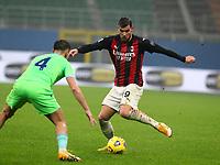 Milano  23-12-2020<br /> Stadio Giuseppe Meazza<br /> Campionato Serie A Tim 2020/21<br /> Milan Lazio<br /> nella foto: Theo Hernandez\                                                         <br /> Antonio Saia