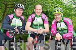 Killarney Cycling club members l-r: Simon Evans, Matt Slattery and John Crowley whose sport has seen a huge growth in popularity recently  ..