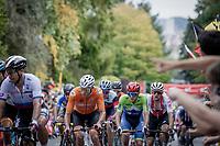 Mathieu van der Poel (NED/Alpecin Fenix) and  Tadej Pogacar (SVN/UAE-Emirates)<br /> <br /> Men Elite – Road Race (WC)<br /> Race from Antwerp to Leuven (268.3km)<br /> <br /> ©kramon