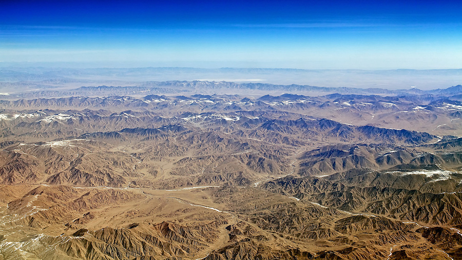 Over The Mountains West-South-West Of Urumqi, China, On A Flight From London To Hong Kong.