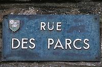 """Europe/France/Bretagne/35/Ille-et-Vilaine/Cancale: Plaque de rue """"Rue des Parcs"""" à huitres"""