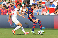 KANSAS CITY, KS - JULY 18: Sam Vines #3 of the United States during a game between Canada and USMNT at Children's Mercy Park on July 18, 2021 in Kansas City, Kansas.