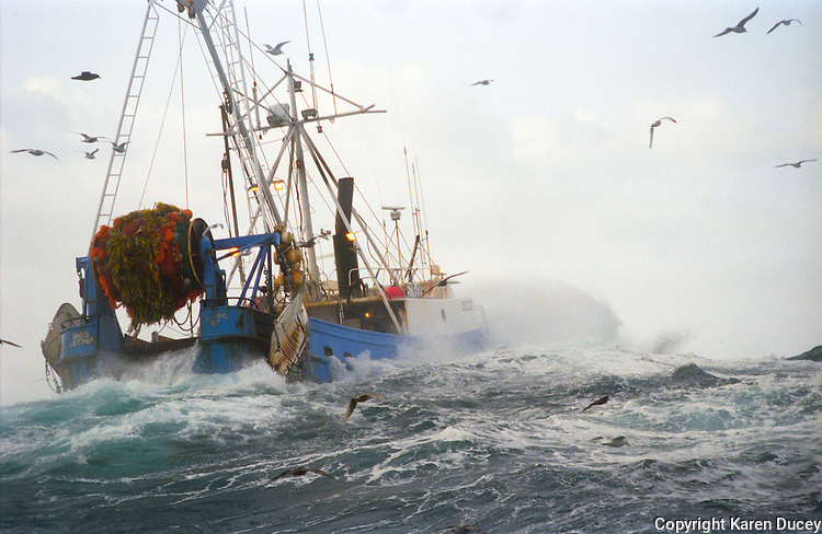 the F/V Miss Leona trawling for cod in the Bering Sea