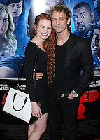 """LOS ANGELES, CA, USA - APRIL 16: Madelaine Petsch, Aaron Carter at the Los Angeles Premiere Of Open Road Films' """"A Haunted House 2"""" held at Regal Cinemas L.A. Live on April 16, 2014 in Los Angeles, California, United States. (Photo by Xavier Collin/Celebrity Monitor)"""