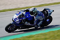 29th March 2021; Barcelona, Spain;  Superbikes, WorldSSP300 , day 1 testing at Circuit Barcelona-Catalunya; Jules Cluzel (FRA) riding Yamaha YZF-R6