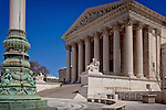 The magnificent columns of the Supreme Court building, Washington, DC, USA