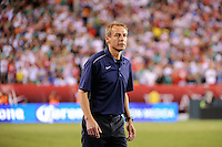 United States head coach Jurgen Klinsmann. The men's national teams of the United States (USA) and Mexico (MEX) played to a 1-1 tie during an international friendly at Lincoln Financial Field in Philadelphia, PA, on August 10, 2011.