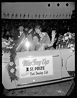 1955 Miss Grey Cup in Vancouver, BC.<br /> <br /> <br /> Photo via Agence Quebec Presse