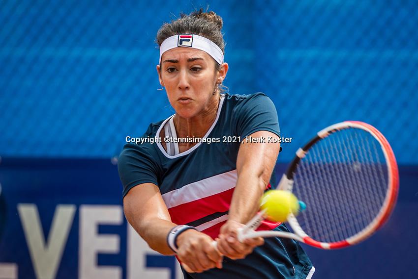 Amstelveen, Netherlands, 5  Juli, 2021, National Tennis Center, NTC, Amstelveen Womans Open, Maria Gutierrez Carrasco (ESP)<br /> <br /> <br /> Photo: Henk Koster/tennisimages.com
