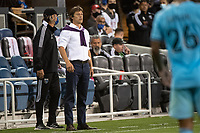 SAN JOSE, CA - AUGUST 17: Matias Almeyda Head Coach of the San Jose Earthquakes watches his players during a game between San Jose Earthquakes and Minnesota United FC at PayPal Park on August 17, 2021 in San Jose, California.