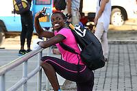CALI - COLOMBIA. 22-06-2013. Gran Prix internacional de atletismo en el estadio Pedro Grajales de la  ciudad de Cali. En la foto Catherine Ibarguen que participara en diferentes pruebas en horas de la nocheCALI -COLOMBIA-22-06-2013. International Gran Prix of Athletism in the Pedro Grajales stadium in Cali. Pictured, Catherine Ibarguen will participate in various events. Photo: VizzorImage/Juan C. Quintero/STR