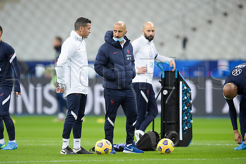 17th November 2020; Stade de France, Paris,  France; UEFA National League international football, France versus Sweden; France warm up for  Bachir Nehar (Fra)