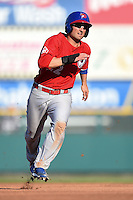 Buffalo Bisons outfielder Kevin Pillar (22) runs the bases during the second game of a doubleheader against the Rochester Red Wings on July 6, 2014 at Frontier Field in Rochester, New  York.  Rochester defeated Buffalo 6-1.  (Mike Janes/Four Seam Images)