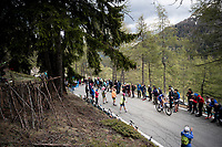 Pieter Serry (BEL/Deceuninck-Quickstep) up the Colle San Carlo (Cat1/1921m/10.1km/9.8%)<br /> <br /> Stage 14: Saint Vincent to Courmayeur/Skyway Monte Bianco (131km)<br /> 102nd Giro d'Italia 2019<br /> <br /> ©kramon
