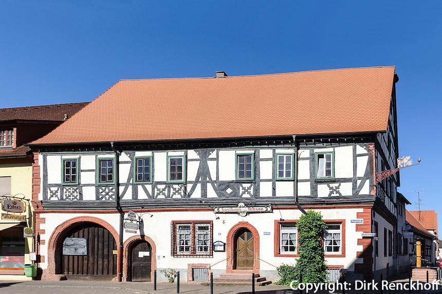 Gasthaus zum Ochsen,  Großwallstadt am Main, Bayern, Deutschland