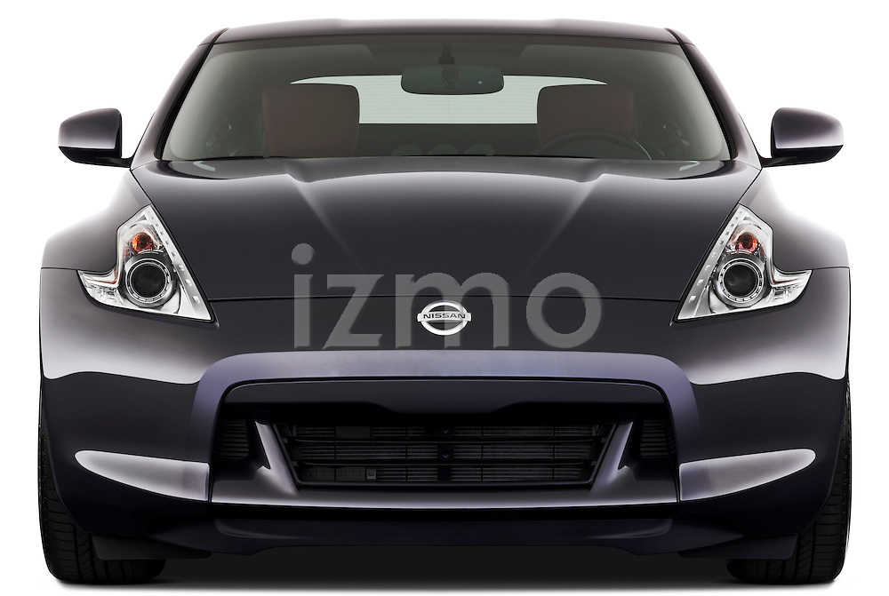 Straight front view of a 2010 Nissan 370z 40th Coupe