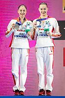 CHN - China, HUANG Xuechen SUN Wenyan silver medal<br /> Gwangju South Korea 18/07/2019<br /> Artistic Swimming Duet Free final<br /> 18th FINA World Aquatics Championships<br /> Yeomju Gymnasium <br /> Photo © Giorgio Scala / Deepbluemedia / Insidefoto