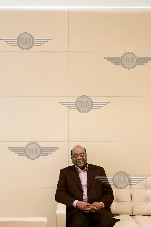 A portrait of Mo Ibrahim, a Sudanese-born British mobile communications entrepreneur, in London. Mohamad Ibrahim founded the Celtel telecommunications company (formerly MSI Cellular Investments), which operates in over 15 African countries. He launched the Prize for Achievement in African Leadership in 2006. The award is the world's largest prize and will be given to a former African Head of State or Government who is judged to have demonstrated excellence in African leadership.
