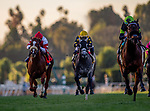 January 09, 2021: Charmaine's Mia with Drayden Van Dyke wins the La Cienegas Stakes at Santa Anita Park in Arcadia, California on January 9, 2021. Evers/Eclipse Sportswire/CSM