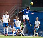 22.08.2020 Rangers v Kilmarnock: Connor Goldson heads clear